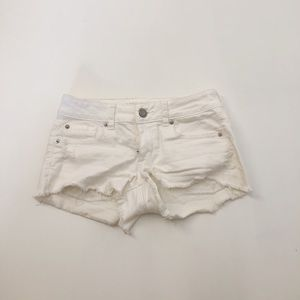 American Eagle Outfitters White Jean Cut Off Short